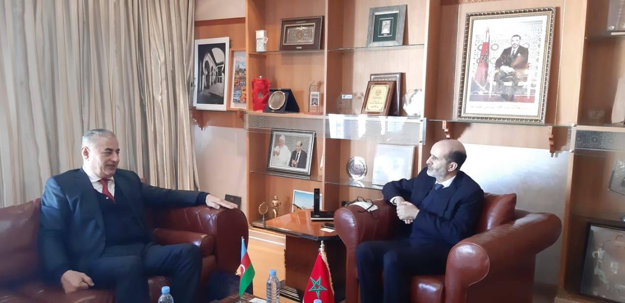 """صورة زيارة سعادة سفير جمهورية أذربيجان المعتمد بالرباط السيد """"أوكتاي قربانوف"""" إلى مقر جماعة فاس"""