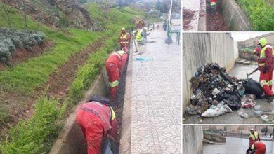 صورة تنقية مجاري المياه الامطار من الازبال