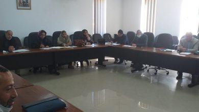 صورة إجتماع اللجنة المكلفة بالتنمية البشرية و الشؤون الثقافية و الاجتماعية و الرياضية