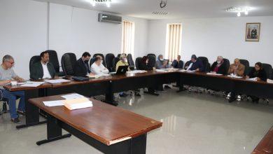صورة إجتماع اللجنة المكلفة بالتنمية البشرية والشؤون الاجتماعية والثقافية والرياضية