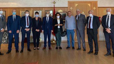 صورة استقبال وفد من الغرفة الفرنسية للتجارة و الصناعة بالمغرب